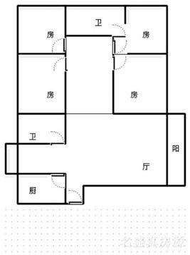 单价只需3590购新广场多层3楼大四室带家具电器
