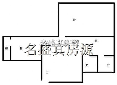 月租650元70平米2房临人人乐商圈小区不临街住房出租
